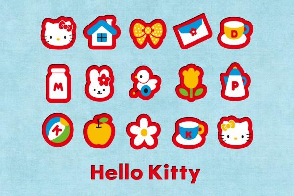 Pequeños iconos de Hello Kitty