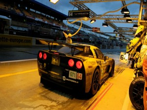 Corvette Racing en el pit stop