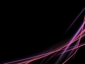 Líneas moradas y rosas en un fondo negro
