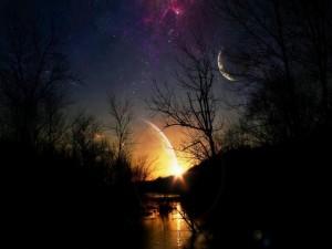 Planetas en el cielo