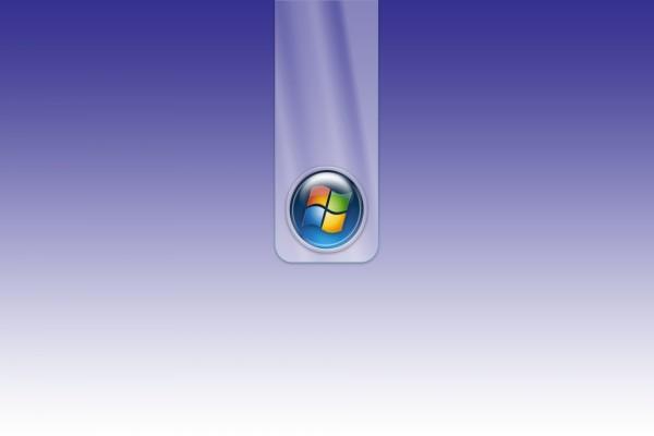 Logo de Windows en un fondo púrpura