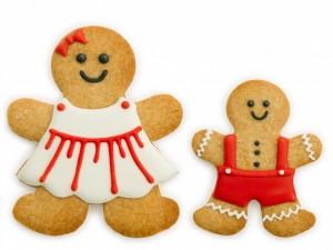 Postal: Masitas dulces de muñecos de jengibre