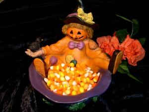 Figura con caramelos para Halloween