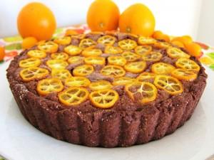 Tarta de chocolate con naranjas