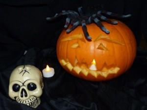 Postal: Decoración para Halloween