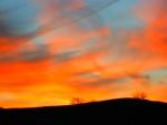 Colores en el cielo al amanecer