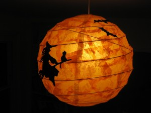 Postal: Farolillo para la noche de Halloween