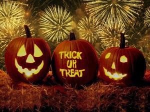 Postal: Fiesta de Halloween