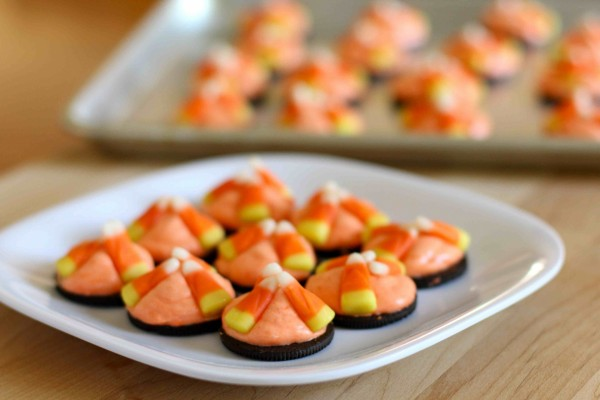 Galletas con caramelos de Halloween