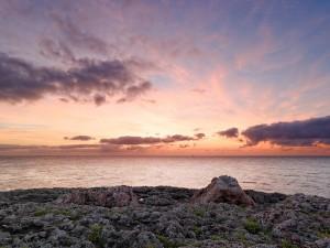 Salida del sol en Cala d'Or, Mallorca (Islas Baleares, España)