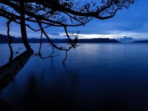 Amanecer en el lago Toba