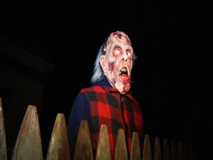 Postal: Un zombi tras la valla