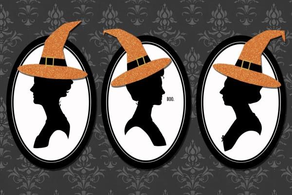 Tres brujas en la noche de Halloween