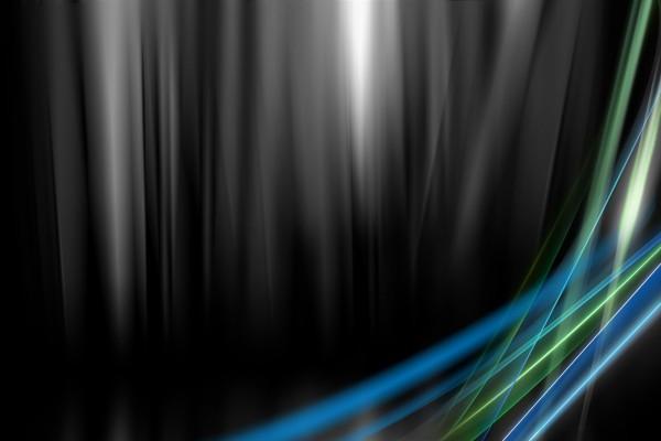 Fondo negro con líneas verdes y azules