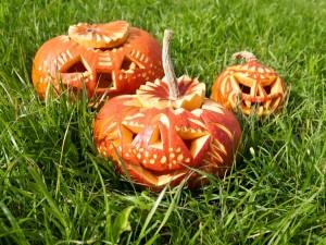 Postal: Bonitas calabazas de Halloween