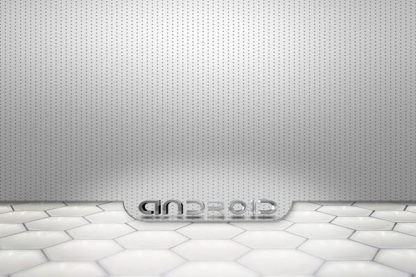 Logo plateado de Android