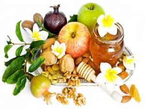 Postal: Frutas, frutos secos y miel