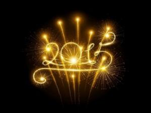 """Postal: Fuegos artificiales festejando el """"Año Nuevo 2015"""""""