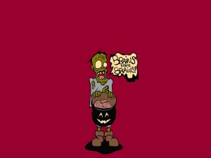 Postal: Un zombi en Halloween