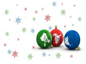 Tres bolas de Navidad