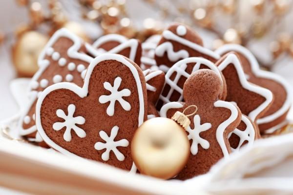 Galletas de cacao para comer en Navidad
