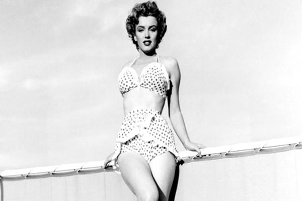 Marilyn Monroe en ropa de baño