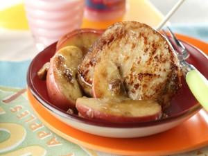 Lomo con manzanas