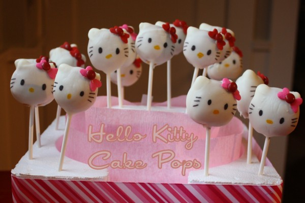 Cake Pops de Hello Kitty