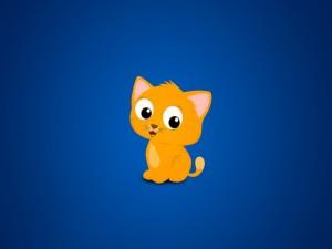 Un divertido gatito