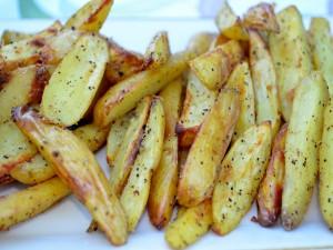 Postal: Patatas gajo asadas