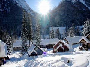 Postal: Pueblo cubierto de nieve