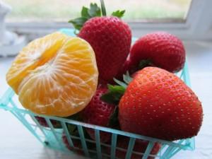 Fresas y mandarina