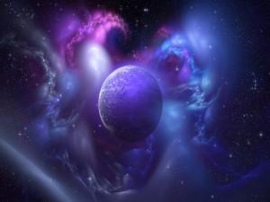Espacio iluminando al planeta