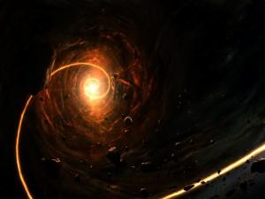 Meteoritos en una espiral