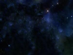 Brillantes estrellas en el espacio