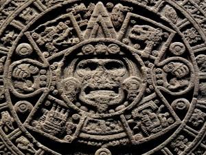 Postal: Piedra del Sol (monolito de la cultura mexica)