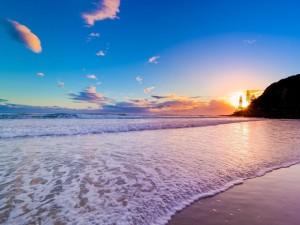 La playa de Chaweng al amanecer