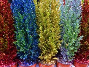 Árboles de Navidad de varios colores
