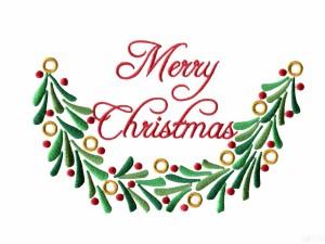"""Un bordado de """"Feliz Navidad"""""""