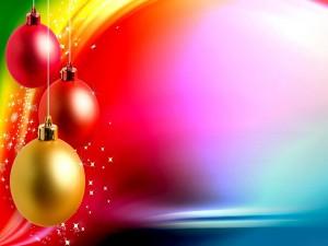 Postal: Navidad de color