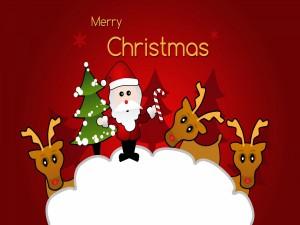 Postal: Graciosa felicitación de Navidad