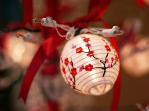 Postal: Un bonito farolillo para decorar en Navidad