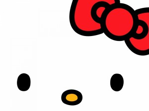 Postal: Un primer plano de Hello Kitty