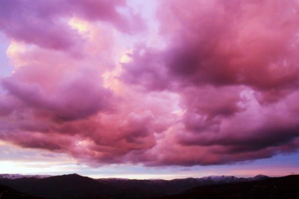 Nubes rosas