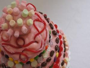 Una tarta de caramelos