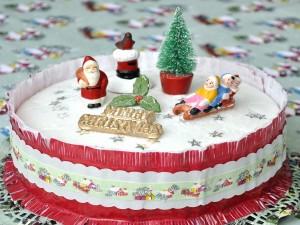 Postal: Una bonita tarta para Navidad