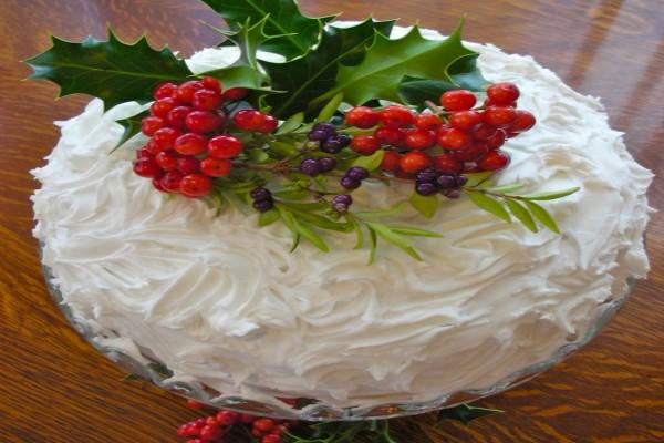 Una tarta de merengue para comer en Navidad