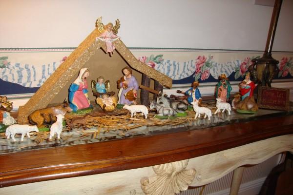 Un nacimiento en casa por Navidad