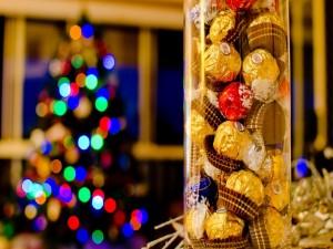 Postal: Bombones para regalar en Navidad