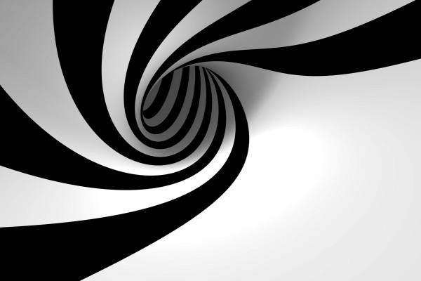 Espiral blanca y negra
